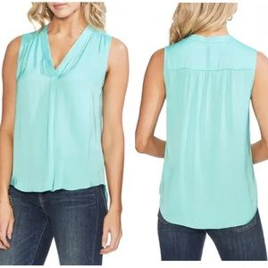 Vince Camuto Rumpled Satin Blouse Like New